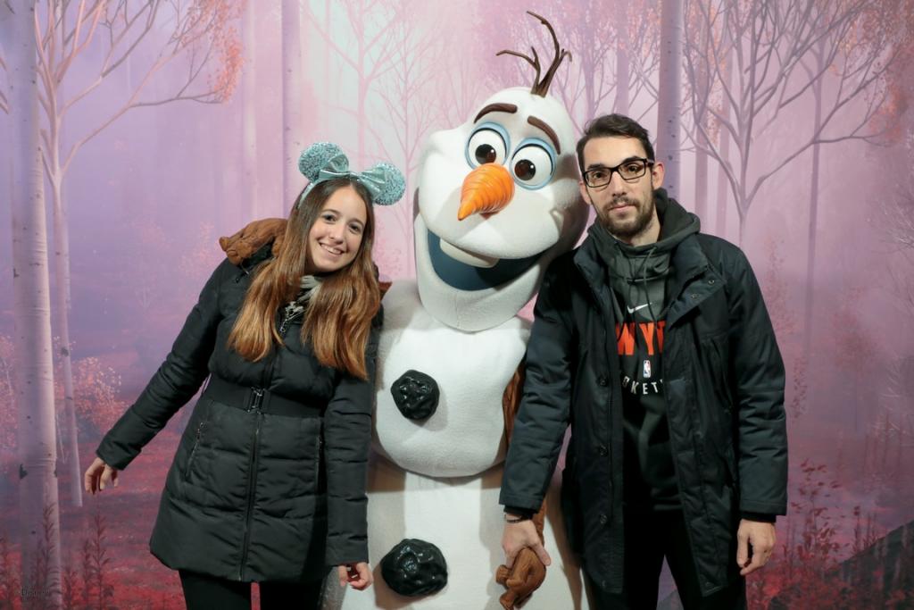 L'incontro con Olaf a Disneyland Paris