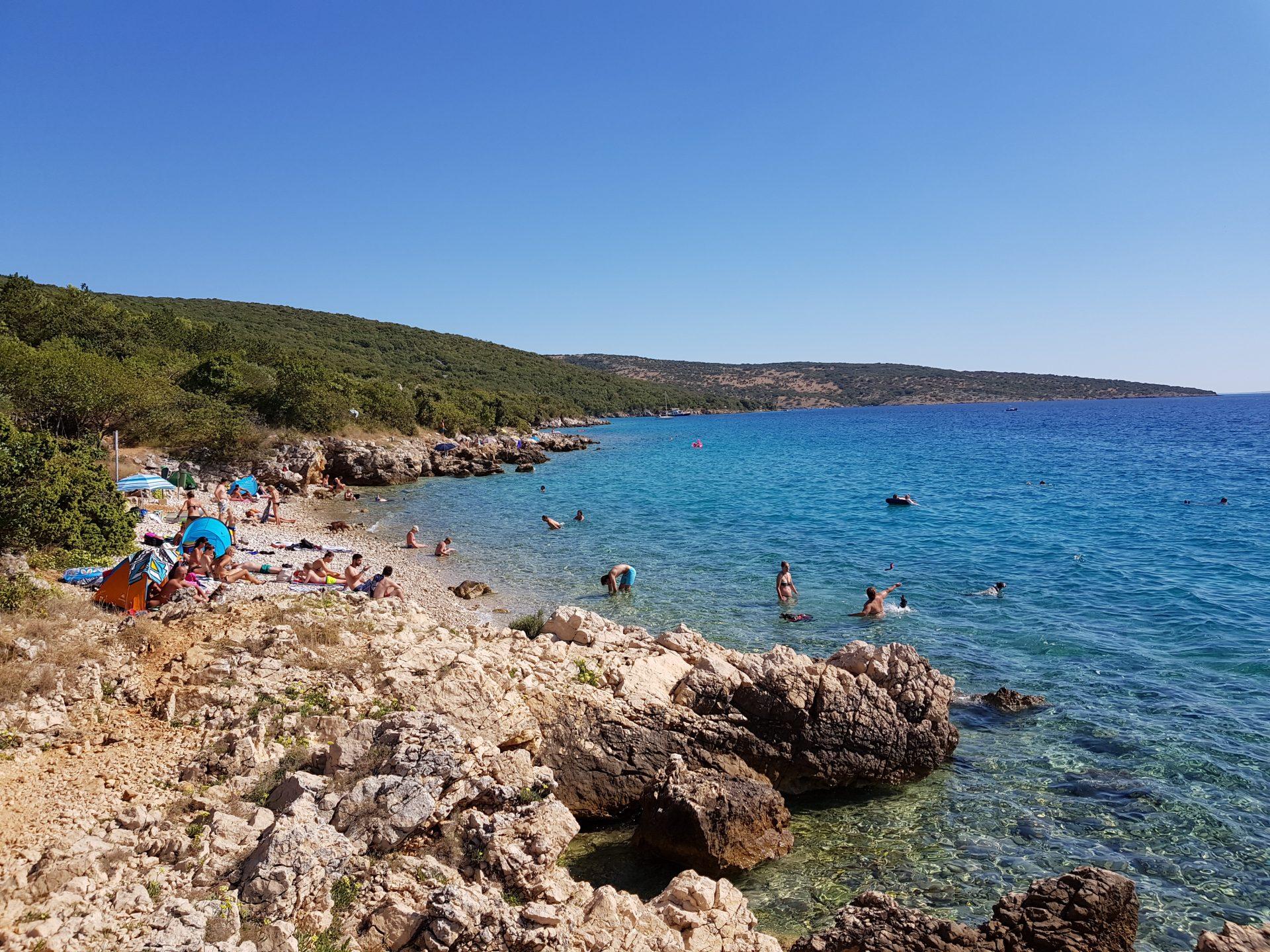 Una delle tante calette dell'isola di Krk