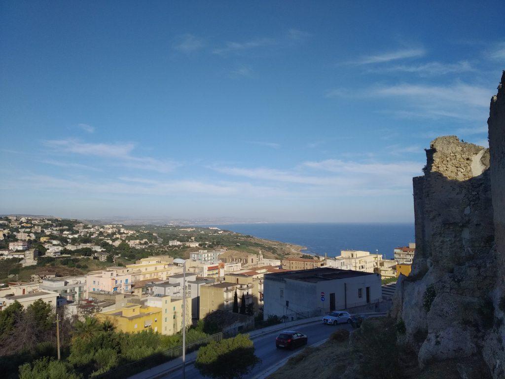 La vista sulla città da Castello Luna