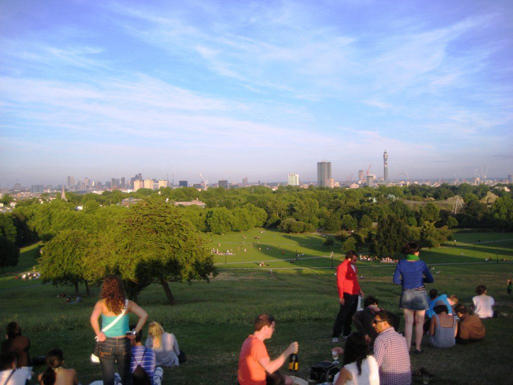 La vista da Primrose Hill