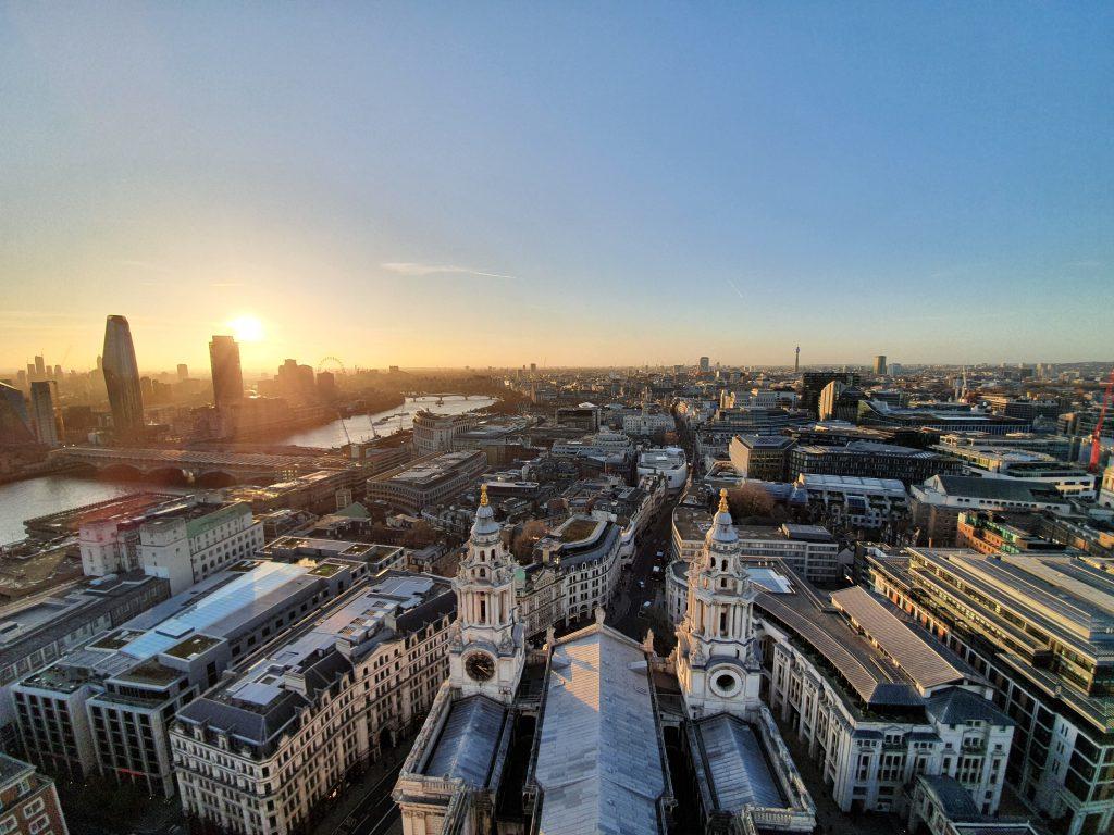 la vista su Londra dalla Cattedrale di St Paul's