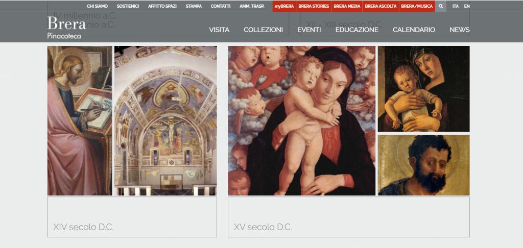 La collezione online della Pinacoteca di Brera