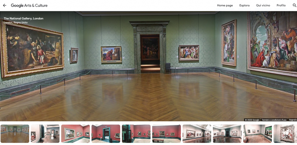 Il tour virtuale della National Gallery con Google Arts&Culture