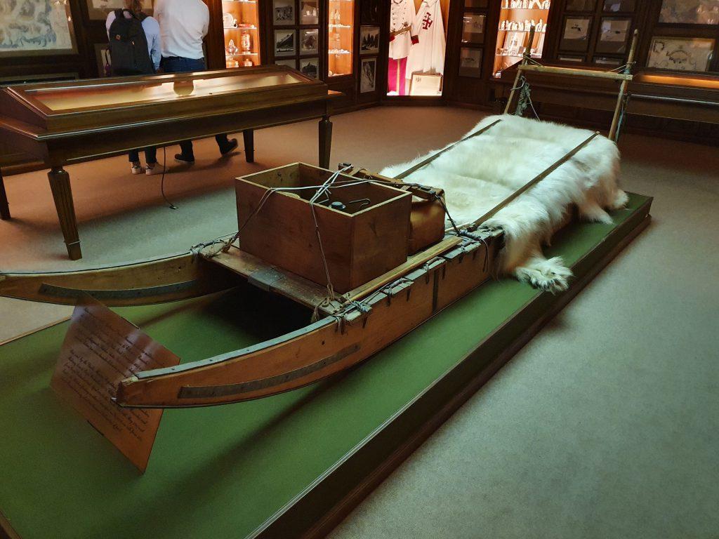 La slitta utilizzata da Monzino nella spedizione al Polo Nord