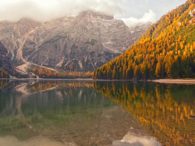 Dove vedere il foliage in Trentino - lago di Braies