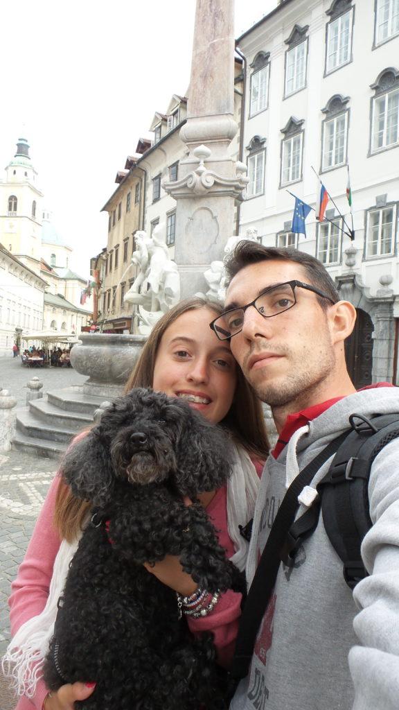 a Lubiana con il cane