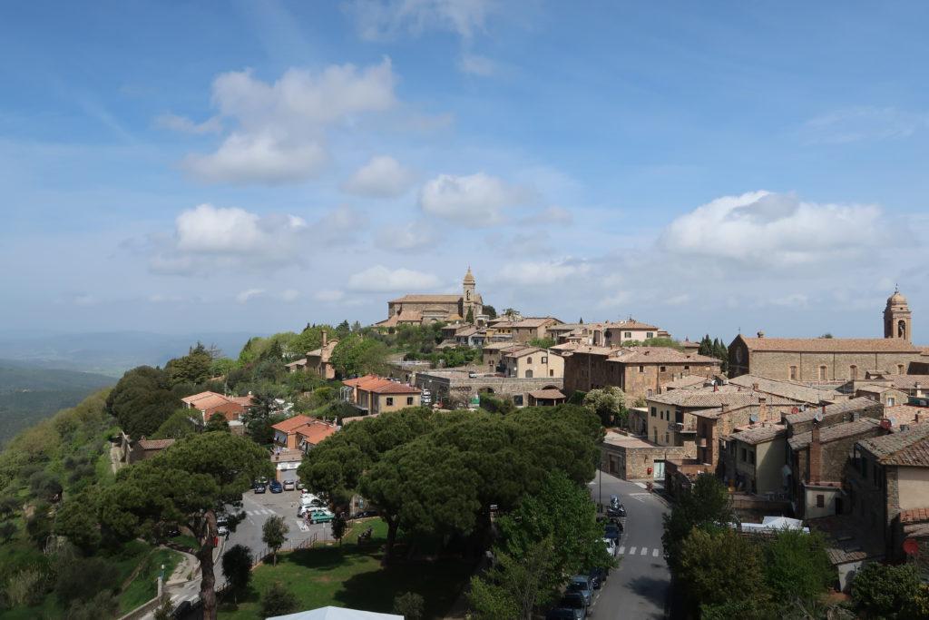 La vista dalla Fortezza di Montalcino